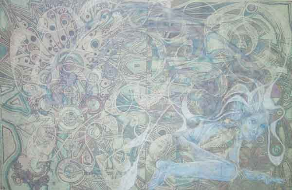 Sylph 2... 23″ x 35″... Graphite, Ink, Pastel, Eraser, Colored Pencil