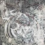 Sylph 3...  46″ x 68.5″... Graphite, Ink, Pastel, Eraser